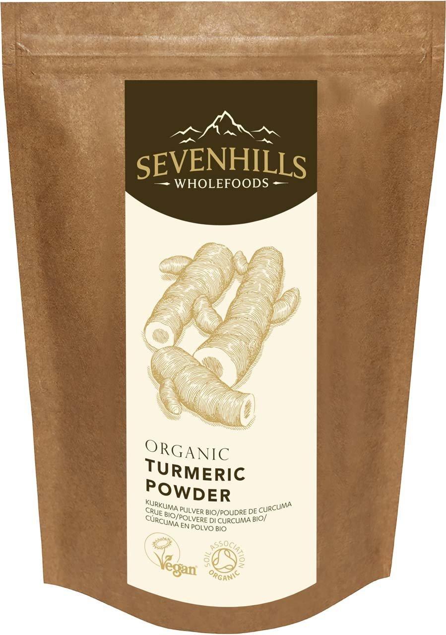 Sevenhills Wholefoods Organic Raw Turmeric (Curcumin) Powder -