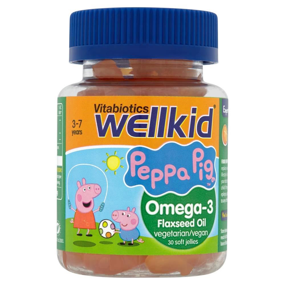 WellKid Vitabiotics Peppa Pig Omega-3 Flaxseed Oil 30 Soft Jellies -