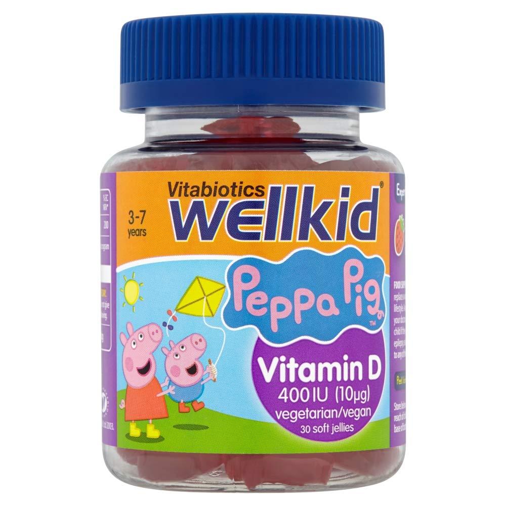 WellKid Vitabiotics Peppa Pig Vitamin D Soft Jellies -