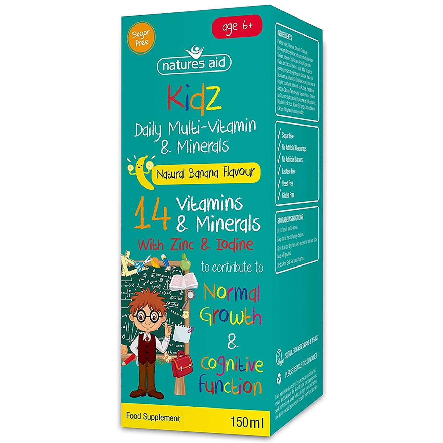 Natures Aid Kids Multi-Vitamin and Minerals Formula for Children -