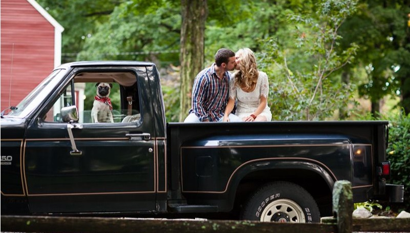 kissing in truck with cute pug - smart relationship advice - couples counseling - terry klee