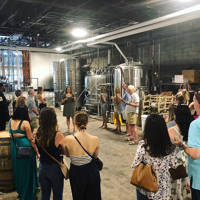 Master Molly leading our tour Saturday during our First Anniversary Party 🎉Did you know we do tours Wednesday-Sunday? Everyday the Tasting Room is open, tours are available 🥃