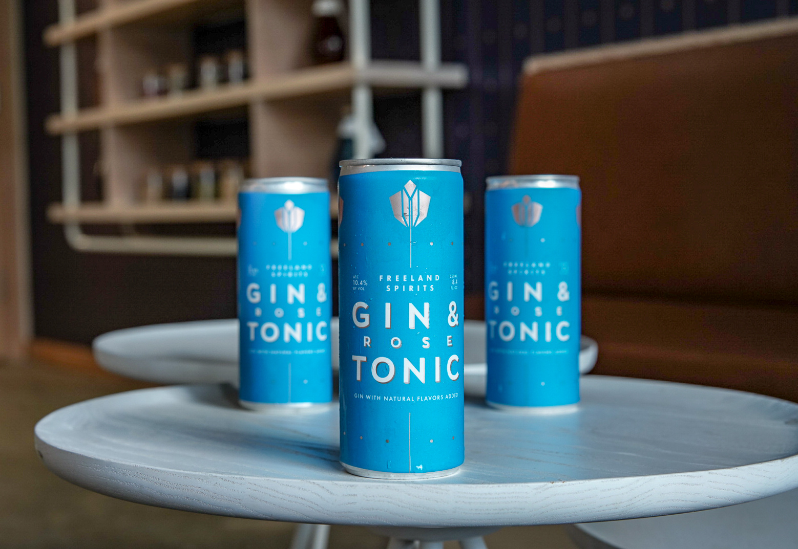 Canned Cocktails - Introducing: Gin & Rose Tonic. Bright citrus and fresh herbs ride a sparkling wave of juniper and roses… in a can.Freeland gin pairs perfectly with Portland Syrups' Rose Tonic in a 250 ml can at 10.4% abv. Freeland G&T cans celebrate the moment you're in, riverside, poolside or fireside, without missing a beat.Tonic brewed by Portland Syrups with seasonally selected whole ingredients including authentic cinchona bark, roses and natural sweeteners.