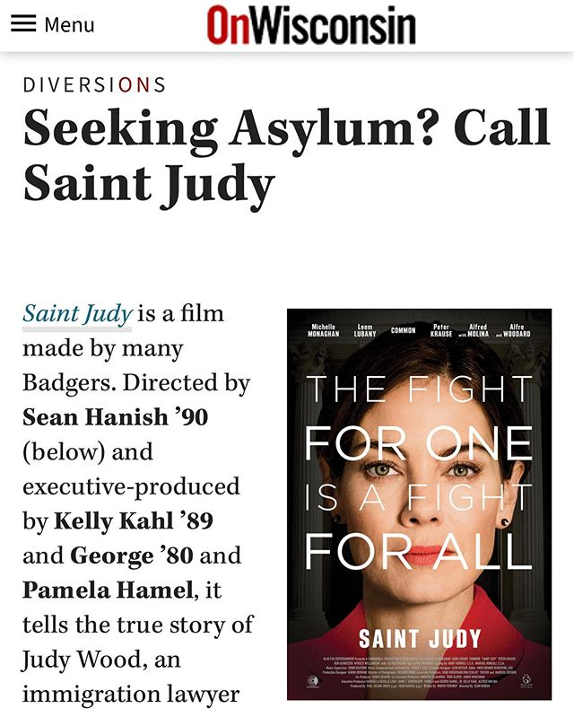 Check out @onwismag article on @saintjudymovie! Link in bio