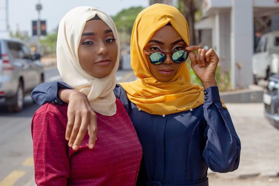 Model Jennifer Campbell and Umu Bah wearing the new collection from ANIQ modesty.