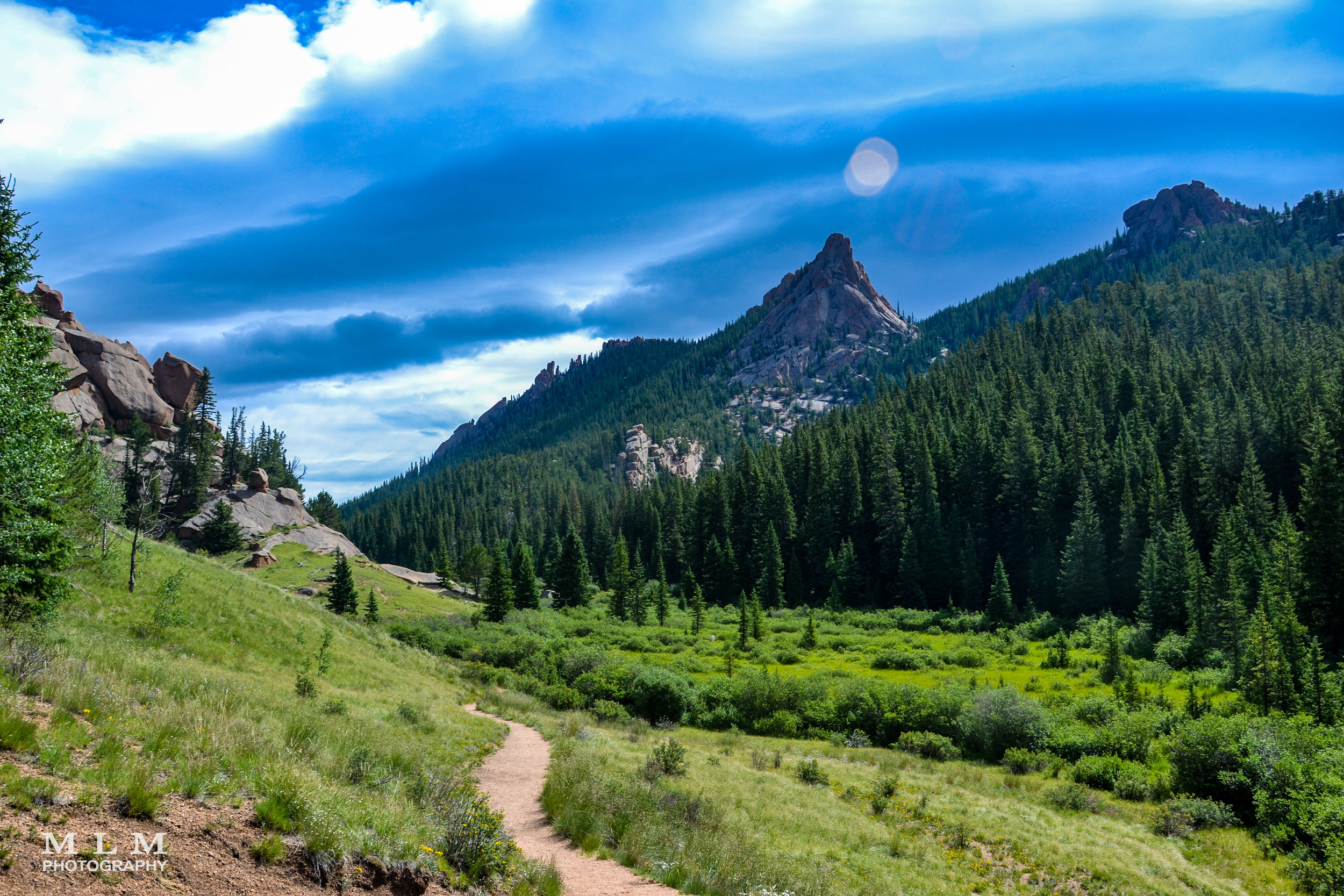 The Crags - The Crags trail is a simple hike with a great approach through lush meadows, Aspen and Pine ending at a rocky outcropping with amazing views.