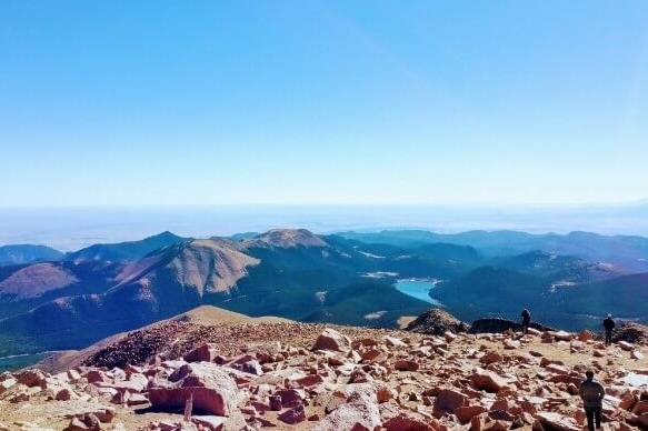 Pikes Peak Summit - If conditions permit, you will be rewarded with a view of Colorado Springs and the satisfaction of knowing you climbed America's Mountain under your own power!