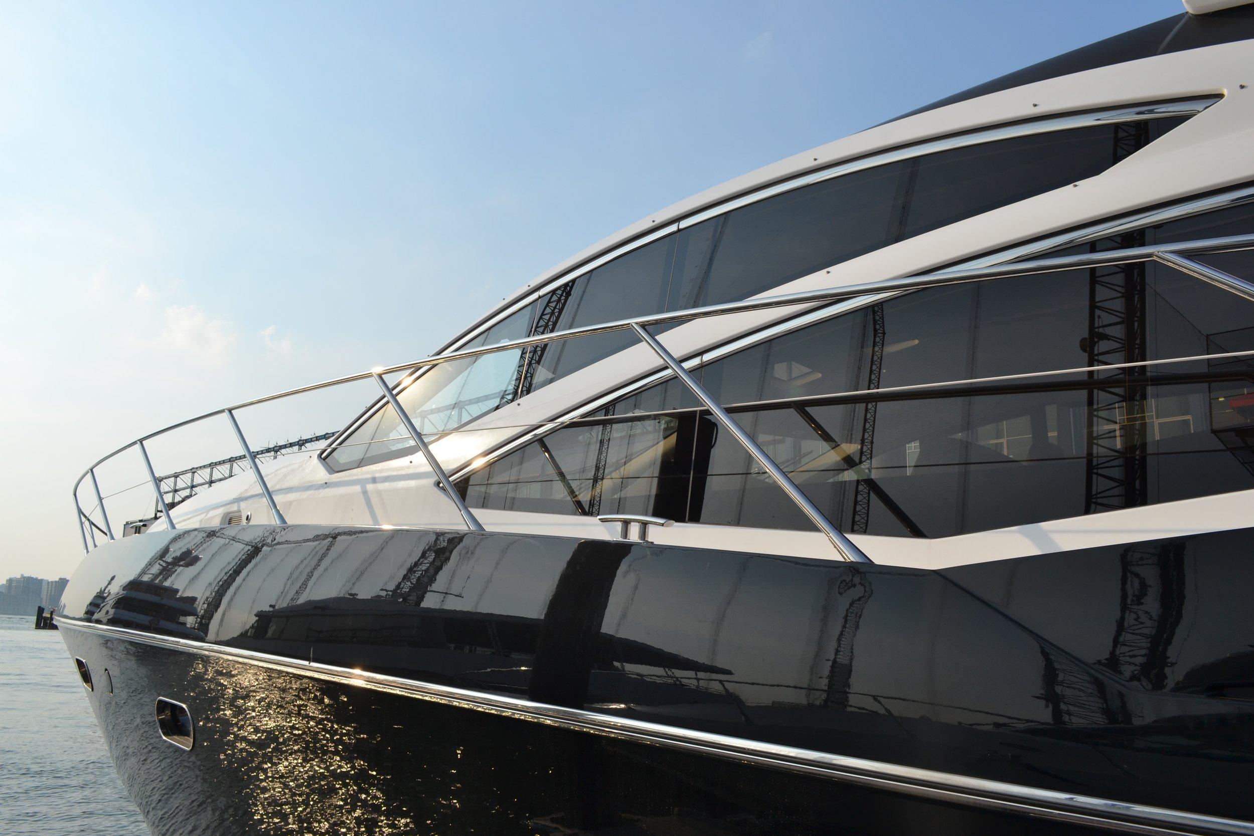 Sunseeker luxury yacht.