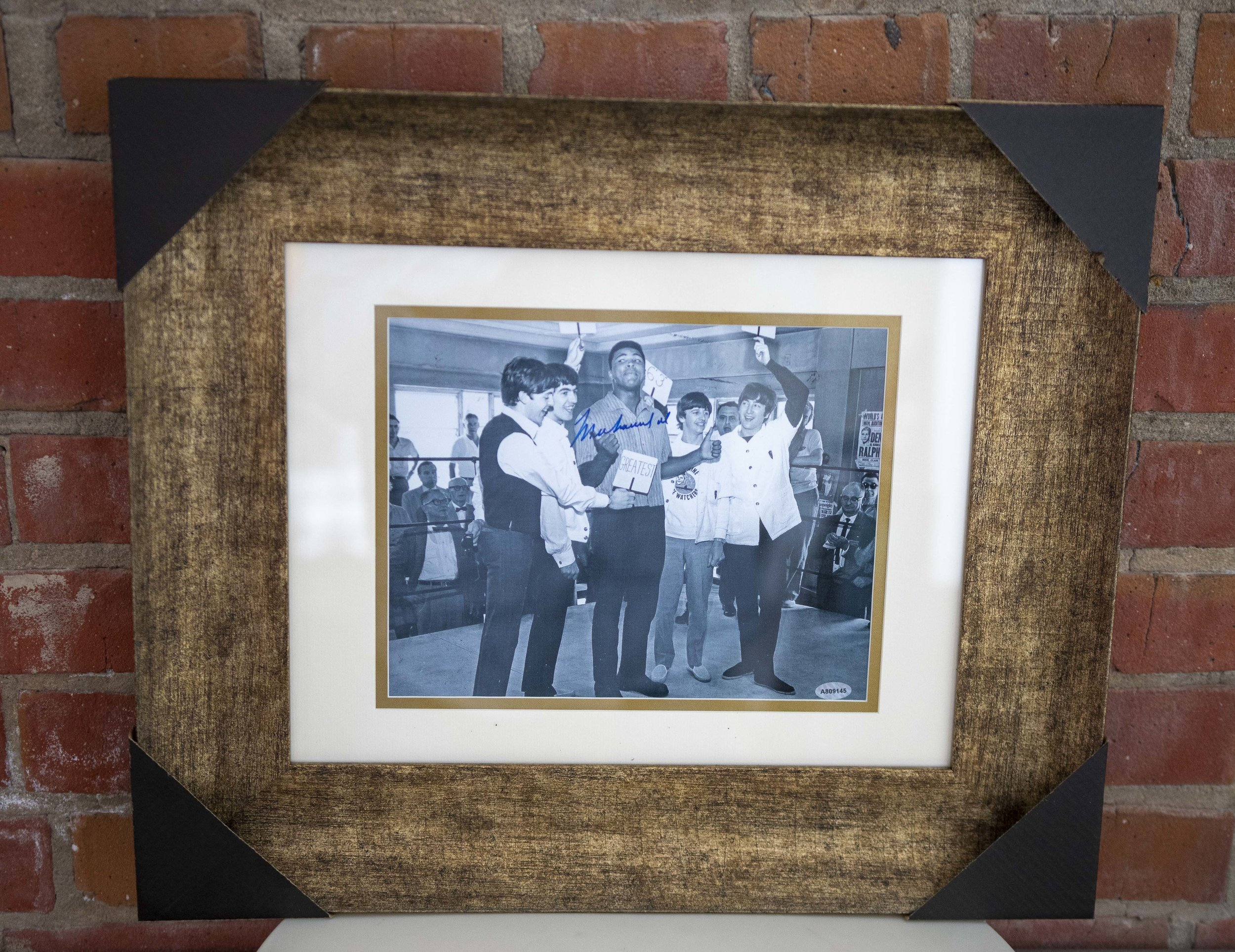 Muhammad Ali With The Beatles Signed Photo