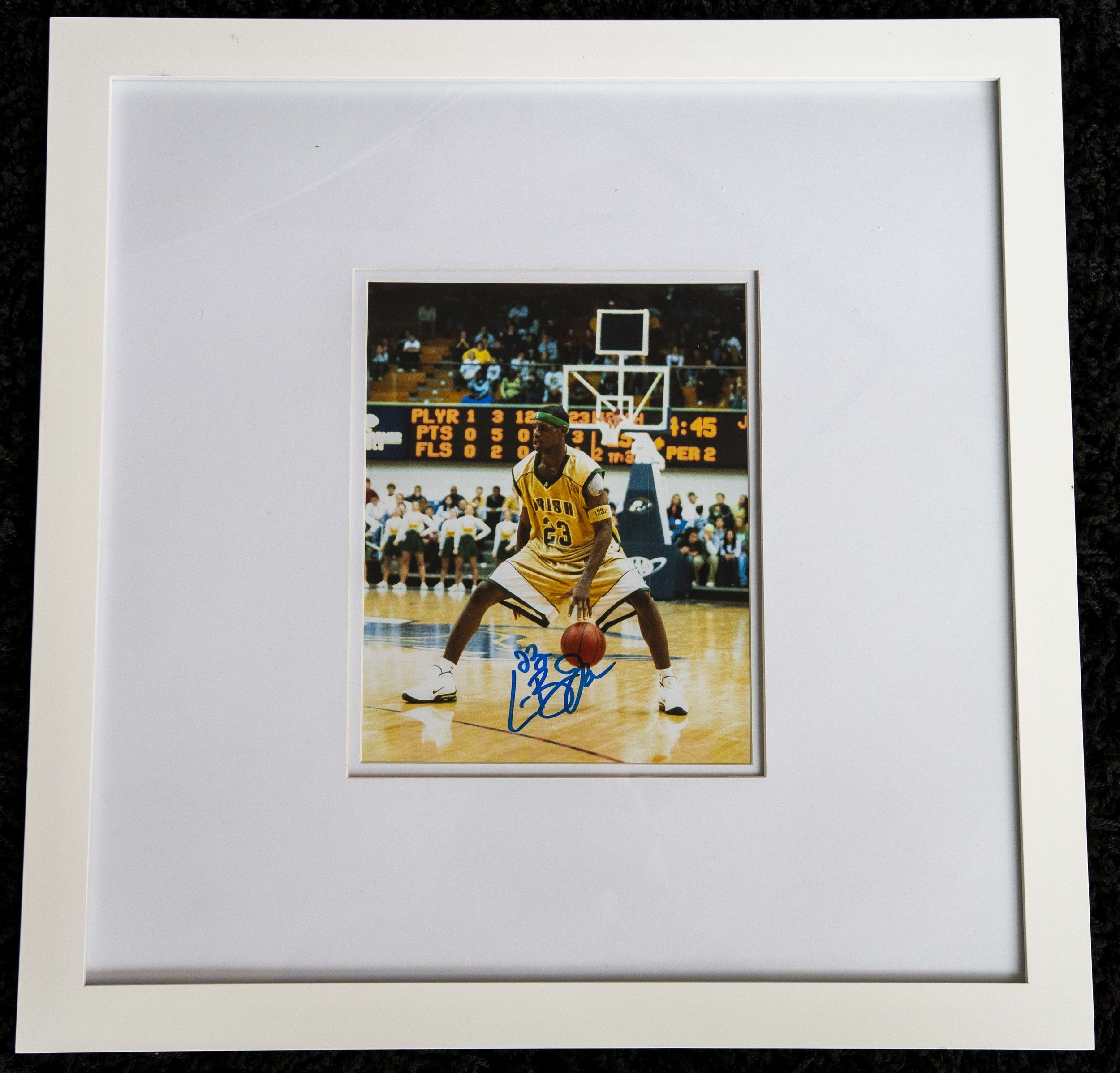 Lebron James Signed Photo From High School