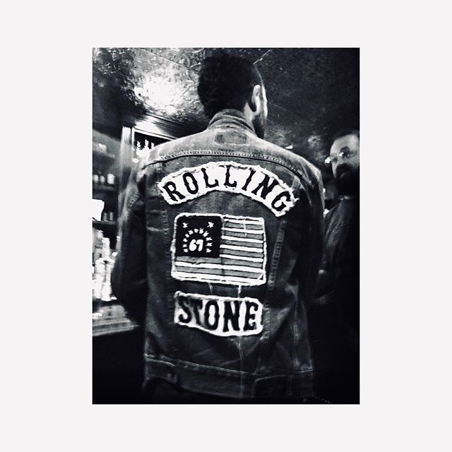 Rolling stone magazine was first published in 1967. It featured John Lennon on the cover, and included a free roach clip. Popular indie rock artist @mondocozmo wears a vintage @levis jacket customized to commemorate the event.