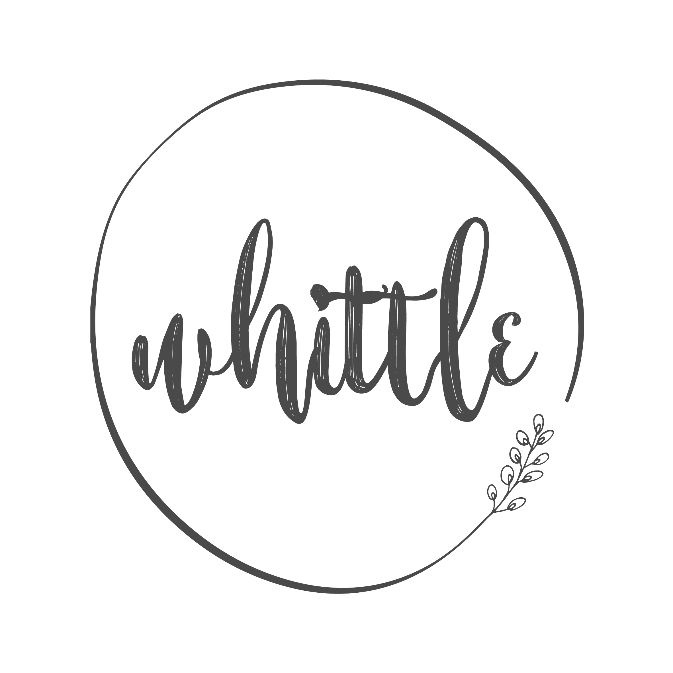 """Whittle - """"Tammy is absolutely amazing. I had a 1st birthday poster designed for my little girl and more recently a logo for my wee business. Tammy is professional, patient, willing, her designs are beautiful and her communication is top notch. I literally could have picked any of the drafts as my logo and been 100% happy. I can not recommend her more. Thank you so much Tammy xx"""""""