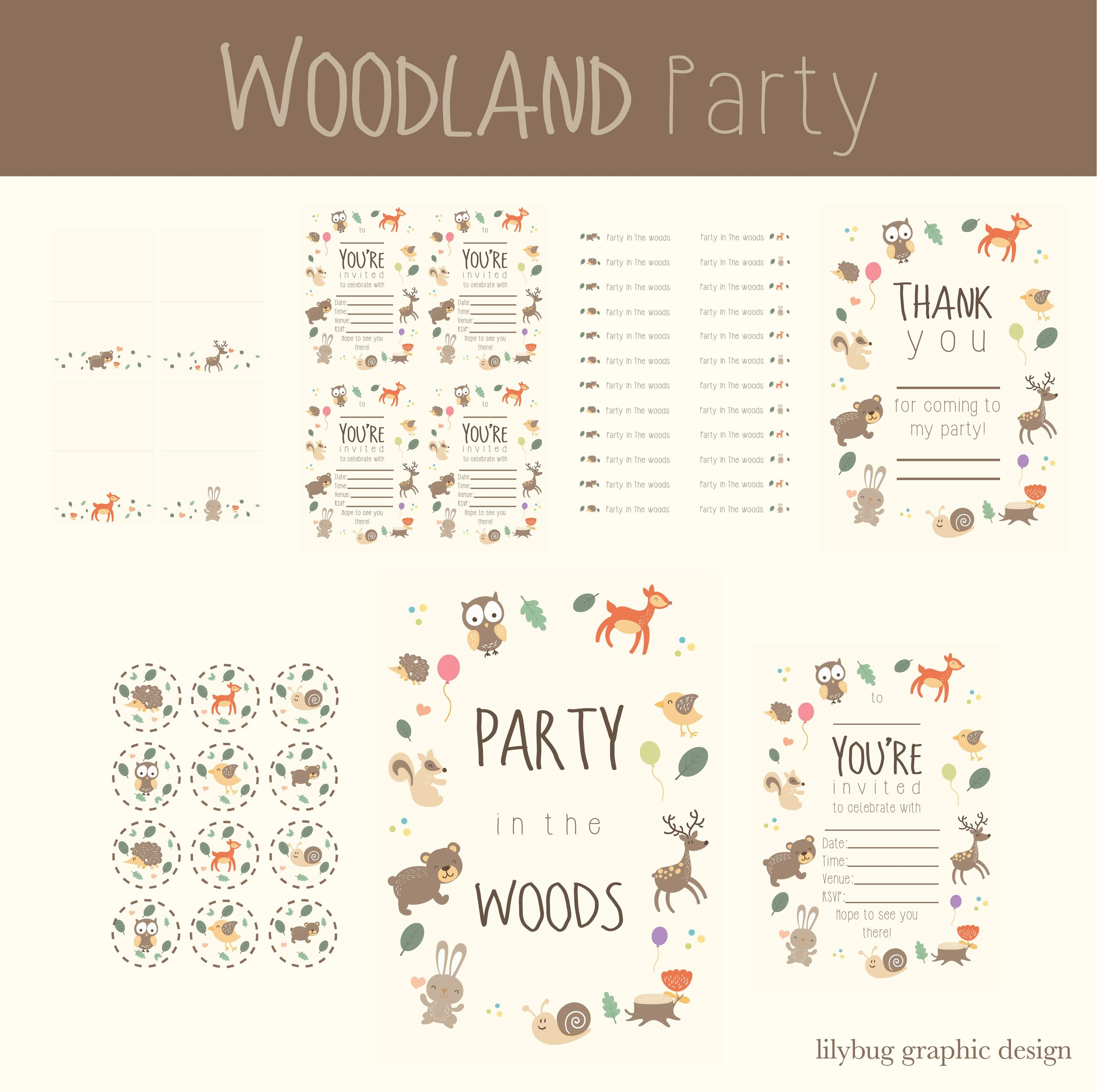 Woodland Party Printables