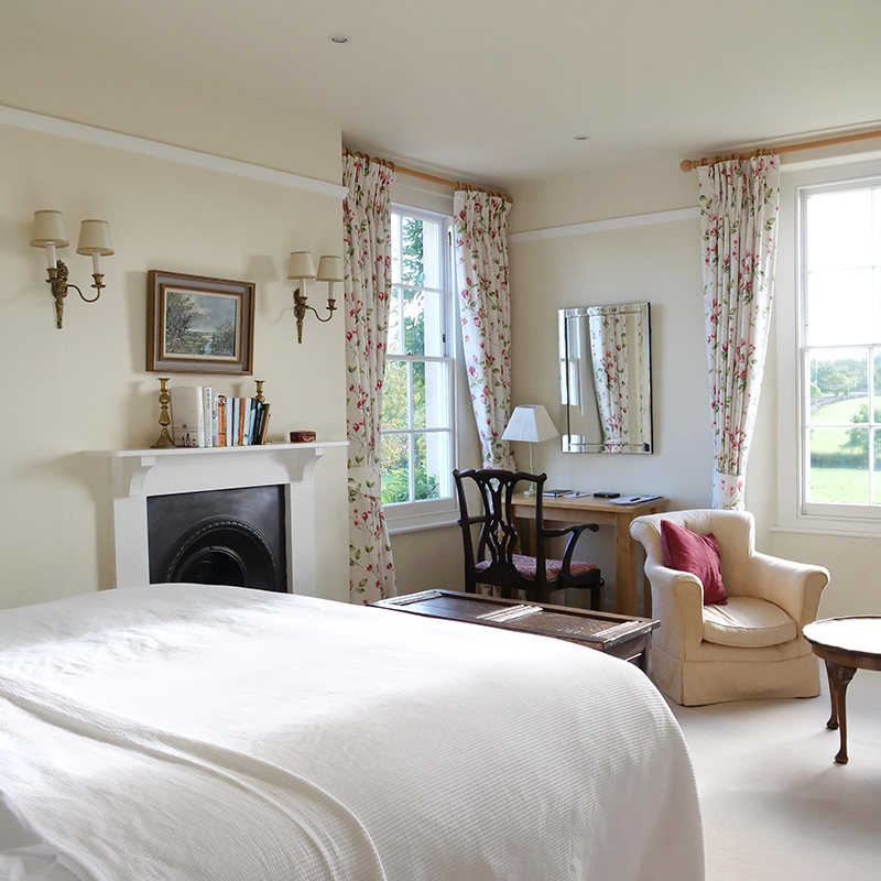 THE ROOMS - Each of the four rooms has its own personality. All are en-suite, tastefully furnished and finished with thoughtful little extras, not to mention extremely comfy beds and great views.