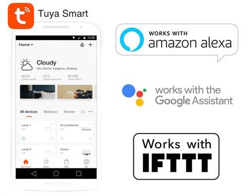 Google / Alexa - Wifi - 4 Gang Light Switch - Black - Aust Certified -  iSwitch
