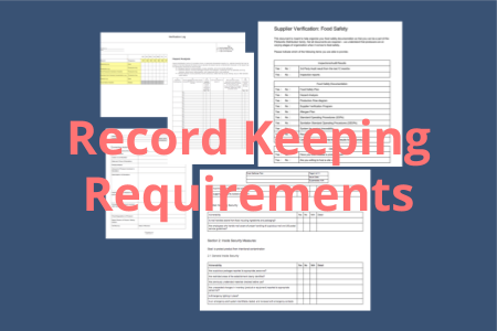 Part 117 Subpart F contains the requirements for record keeping