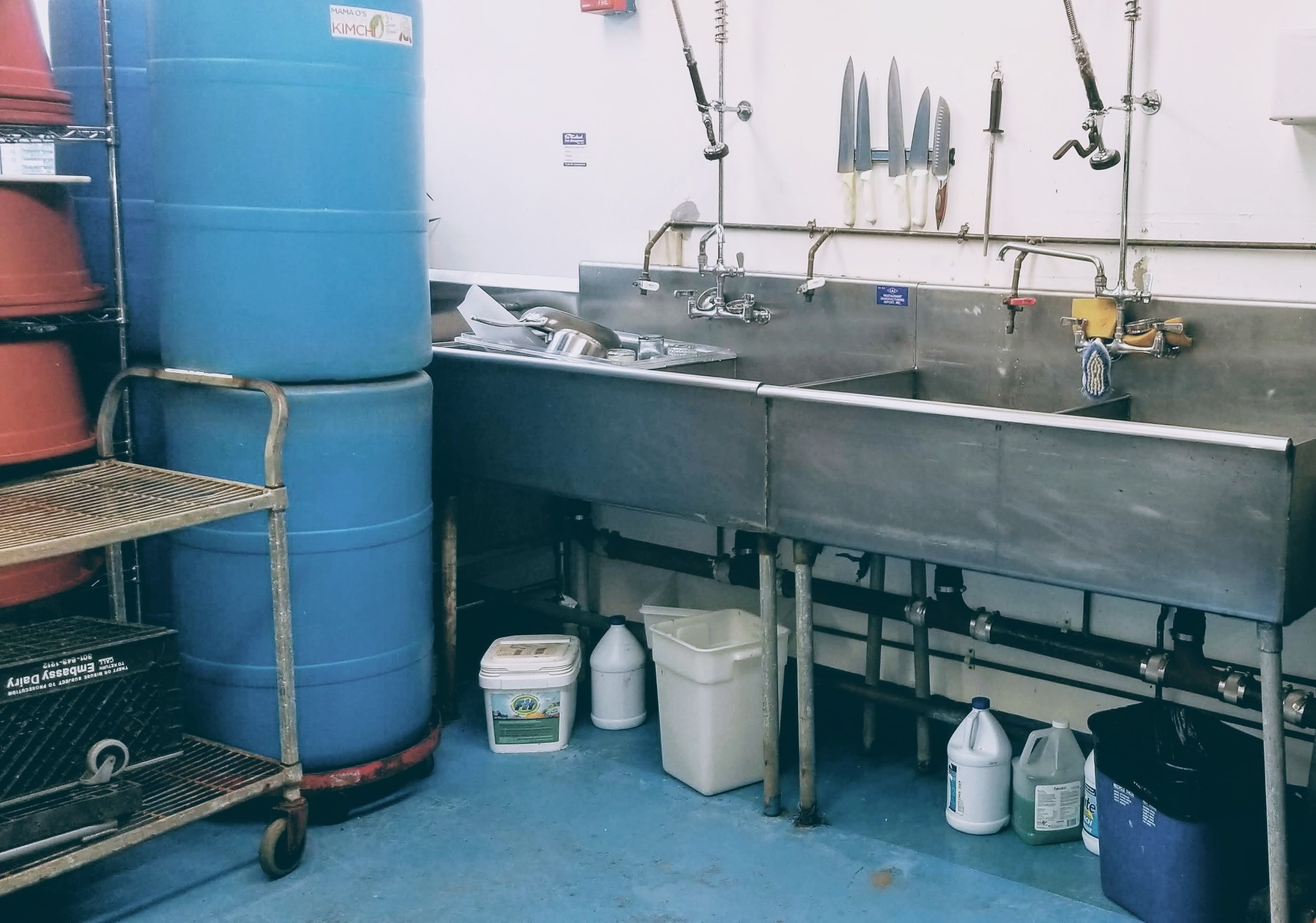Inadequate storage of chemicals and poor sanitation indicate a breakdown in food safe systems