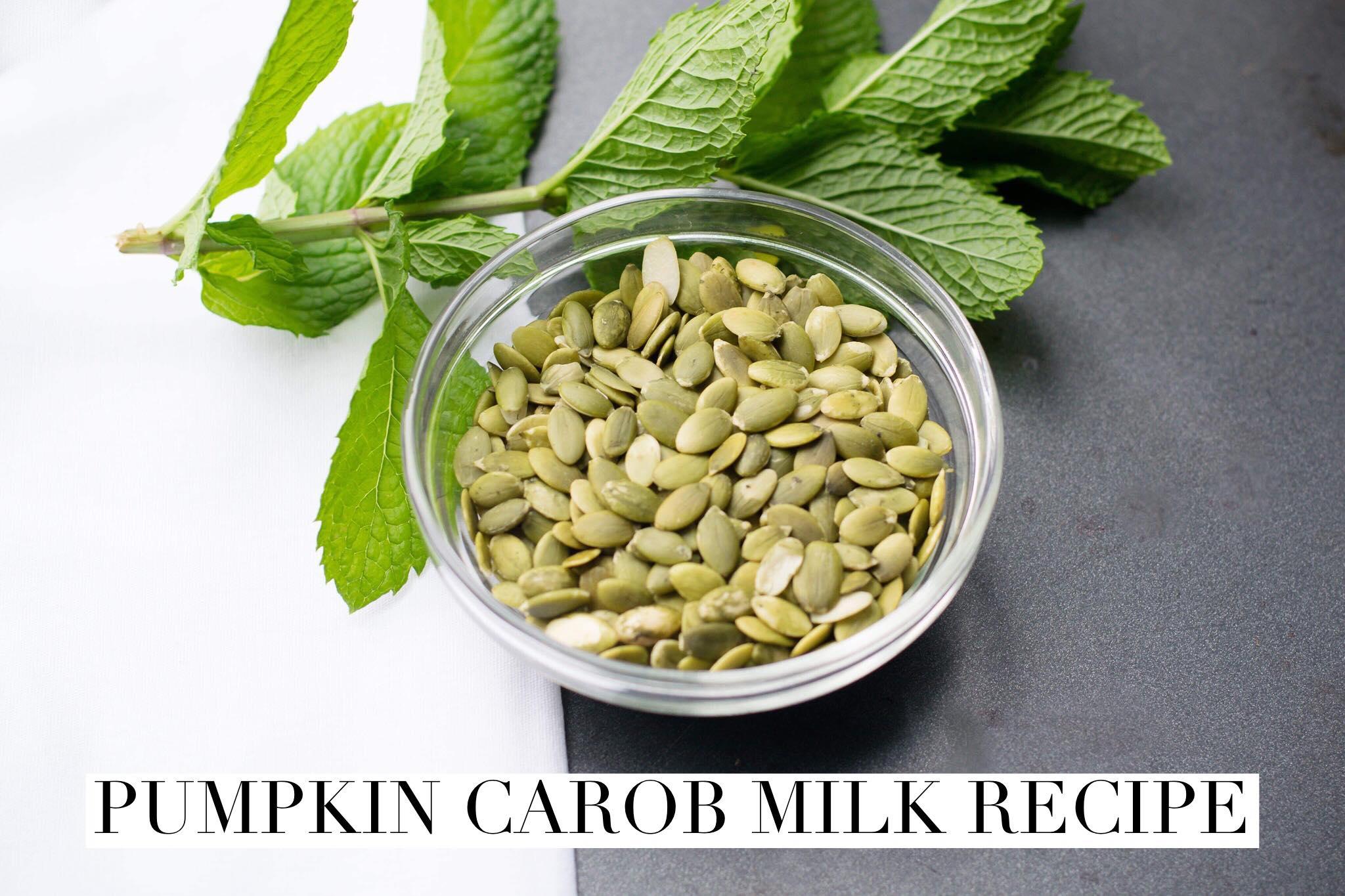 pumpkin carob milk recipe