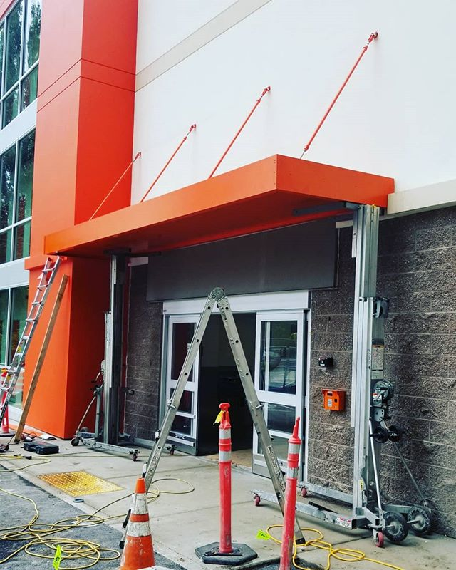 Awning fabrication and installation.