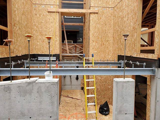 Installation of 2 - w6x25 beams