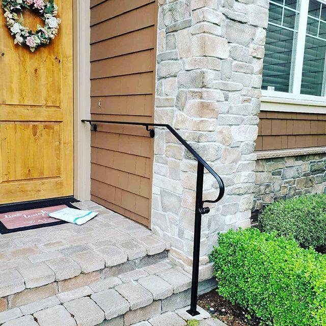 Custom ornamental handrails.