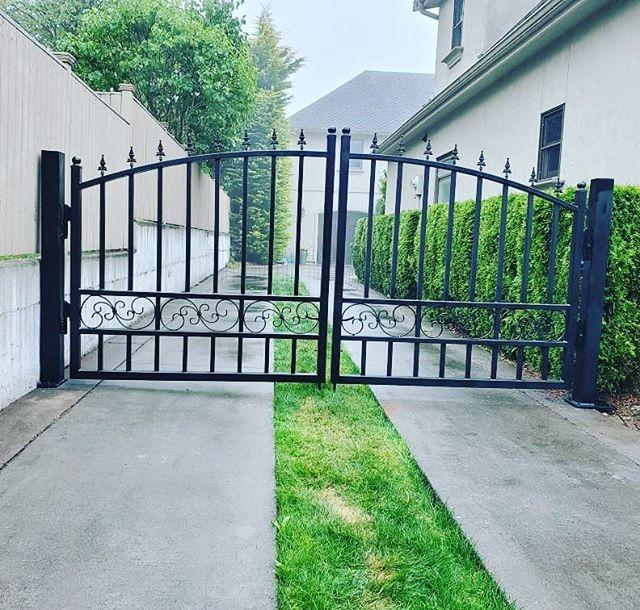 Ornamental custom gate.