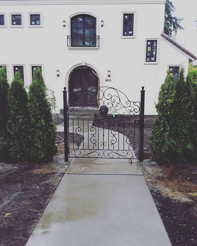 Exterior custom gate - design to match customer preferences.