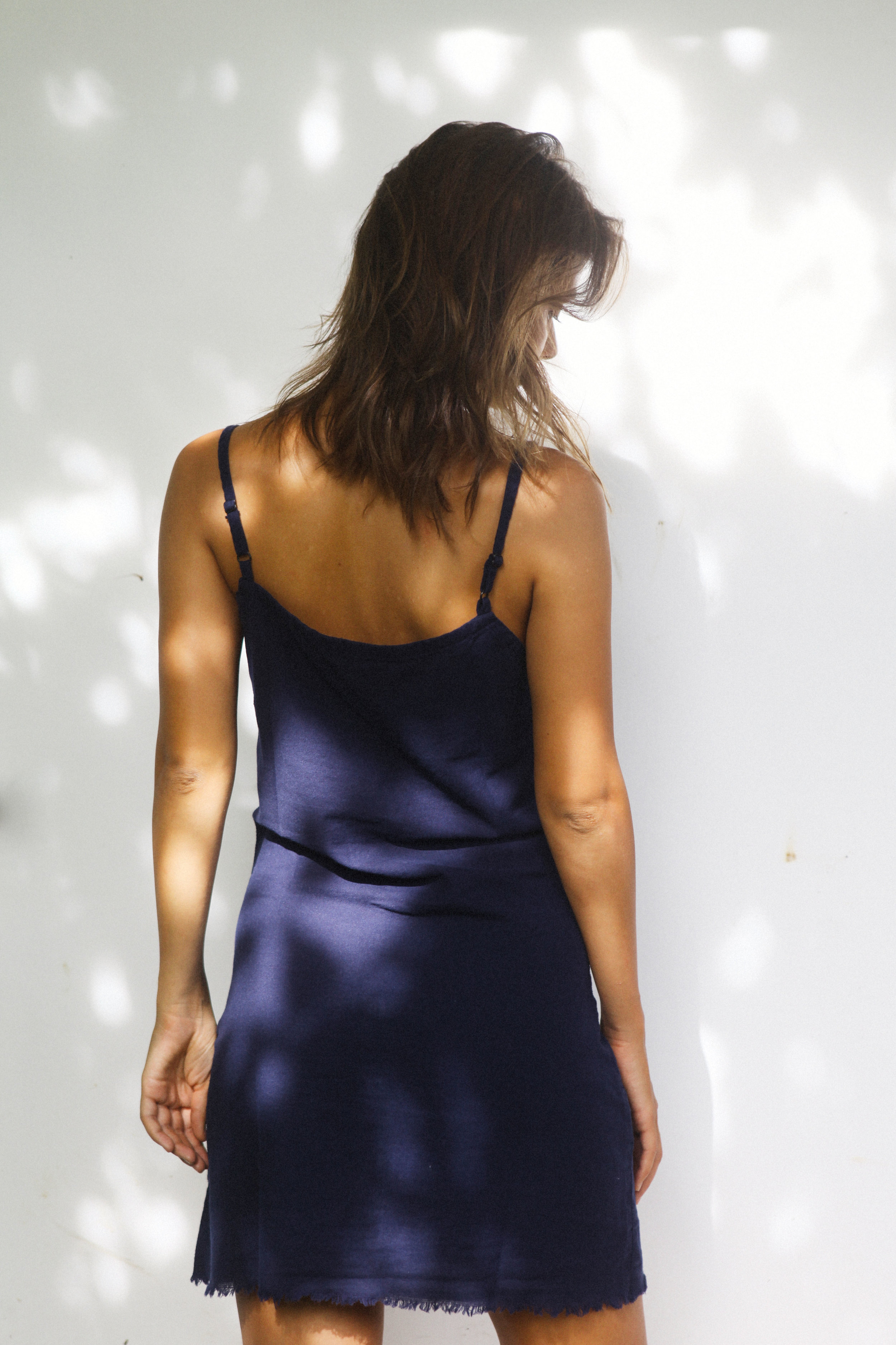 Dress blue linen