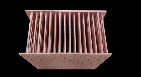 A pure copper heat exchanger produced by Farsoon Technologies