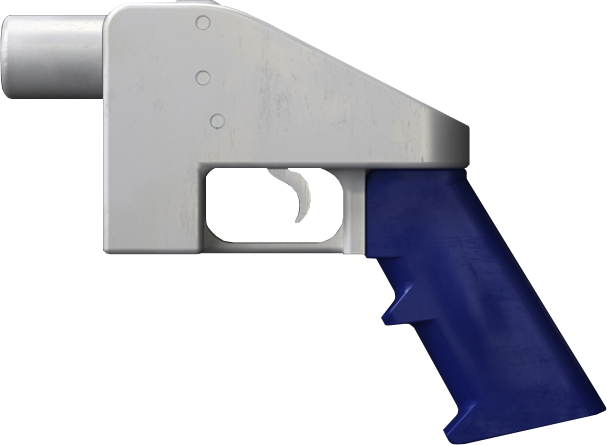 The Liberator (shown) is a single-shot gun that can be 3D-printed using unsecured files available on the Internet. (Image source: NotLessOrEqual [CC0])