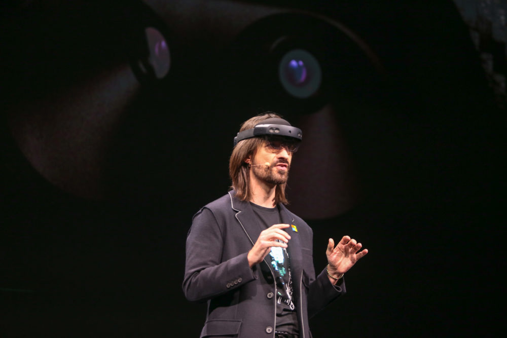 Microsoft's Alex Kipman introduces HoloLens 2 at MWC 2019 in Barcelona. (Image source: Microsoft)
