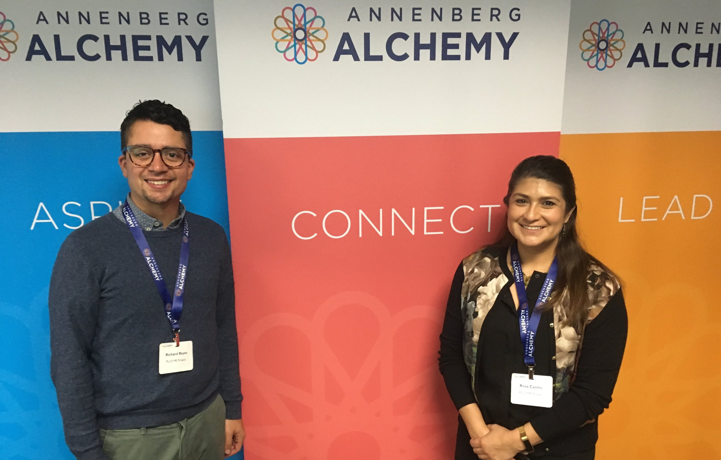 Board President Rosa Castro attended Annenberg Alchemy with our Executive Director, Richard Reyes