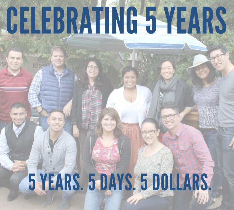 #TeamPLUSME featuring current and former board members, presenters, and staff   4. In July, we celebrated our 5 year anniversary by launching our 5 Years. 5 Days. 5 Dollars. fundraising campaign. We received tremendous support from our donor community and celebrated our achievements via social media and with our team.