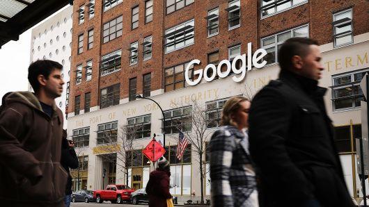 Google's New York City office in lower Manhattan. by Spencer Platt | Getty Images