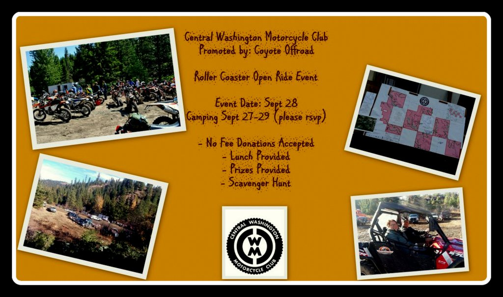 This ride is available for all ages and offroad bikes allowed. CWMC has limited family memberships and currently has openings available. Feel free to inquire
