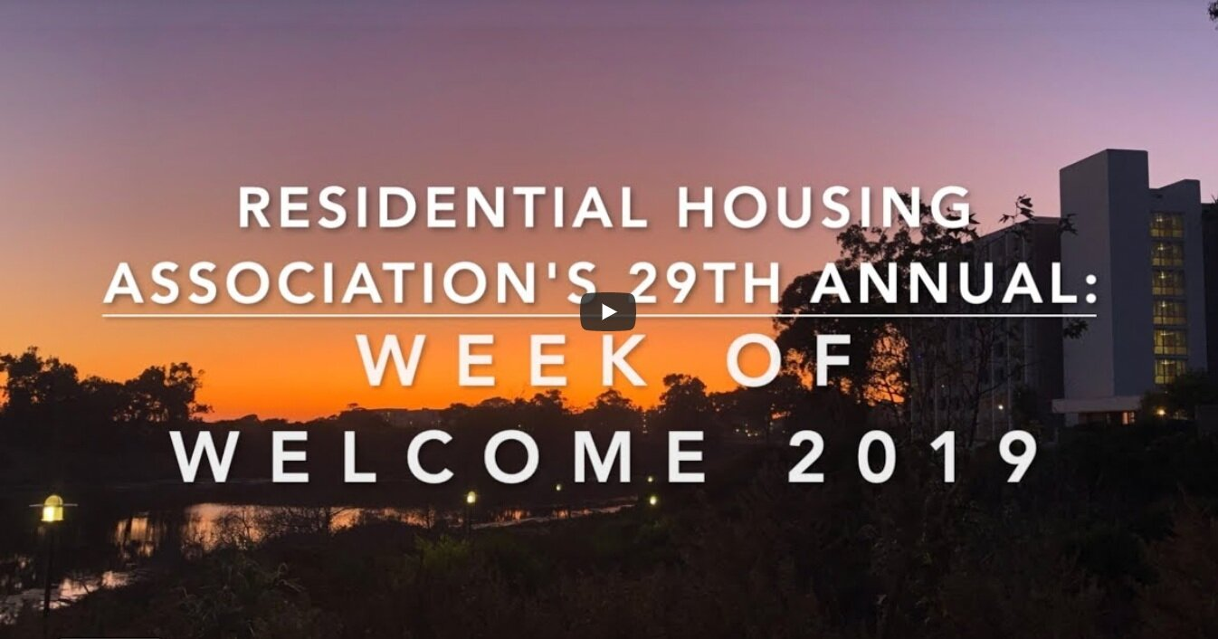 RHA 2019 Week o Welcome Video Recap!