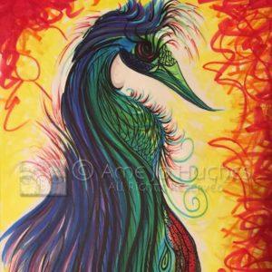 Intuitive Art Ame Jo Hughes Phoenix Rising Shiloh