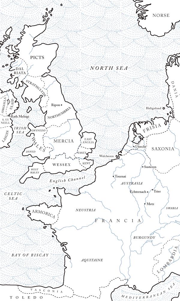 Northwestern Europe in the seventh century