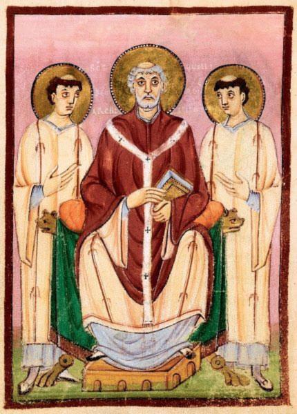 Illuminated manuscript of Saint Willibrord