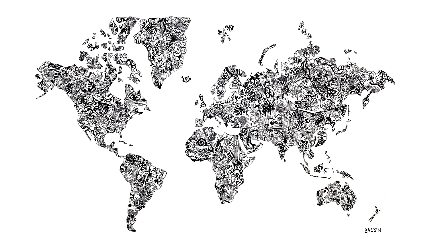 Artsy World Maps Wander Wonder World Maps
