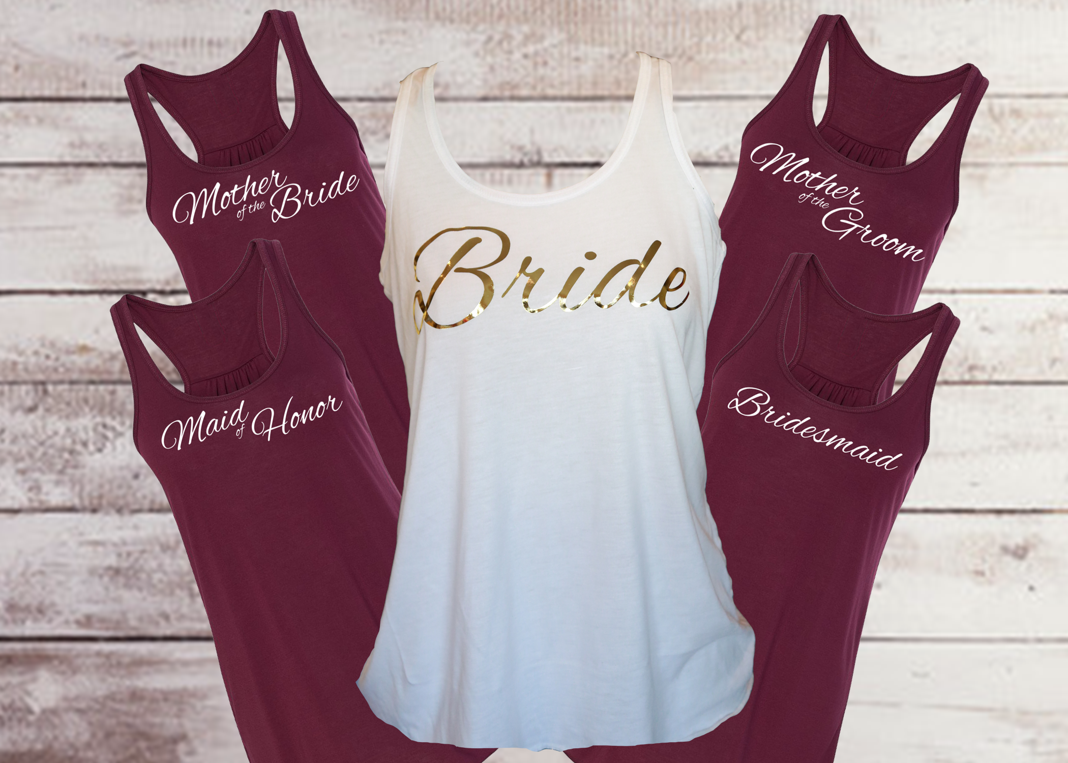 All Maroon Shirts with foil Bride Shirt.png