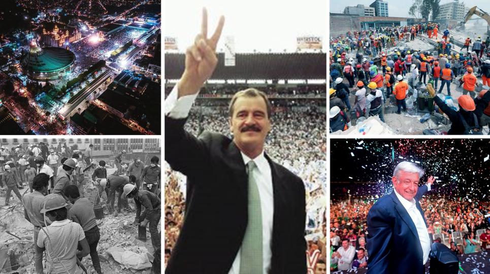 """Vicente Fox, Andrés Manuel López Obrador y referencias al código cultural """"La esperanza de México""""."""