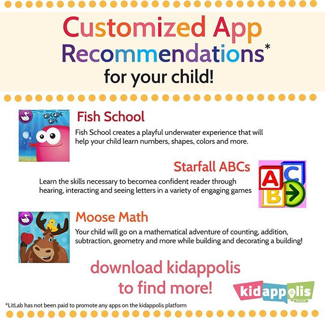 With over 300,000 learning apps on Android and iOS platforms, it can be difficult to find the right apps for your child. Kidappolis uses assessments to curate a catalog of learning apps to help your child achieve their goals.  Here are a few of the many apps that kidappolis can recommend!#edtech #kideducation #learning