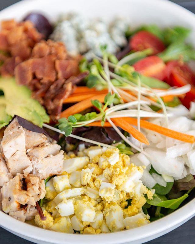 A customer favorite—our Broughton Cobb Salad! . . . . . . #eatkayak #kayakkafe #kayaksalads #eatrealfood #downtownsavannah #midtownsavannah #savannahgeorgia #eathealthy #healthyeating #healthyliving #whattodoinsavannah  #savannaheats #georgieats