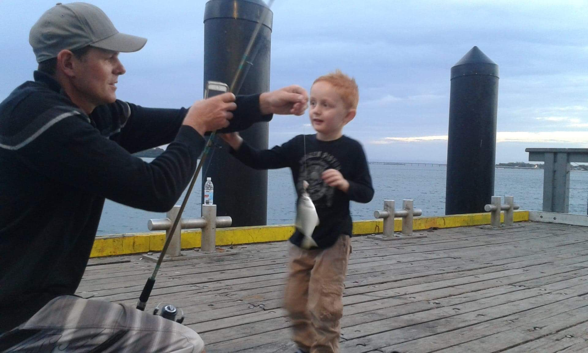 Our biggest little legend has loved fishing from a young age!