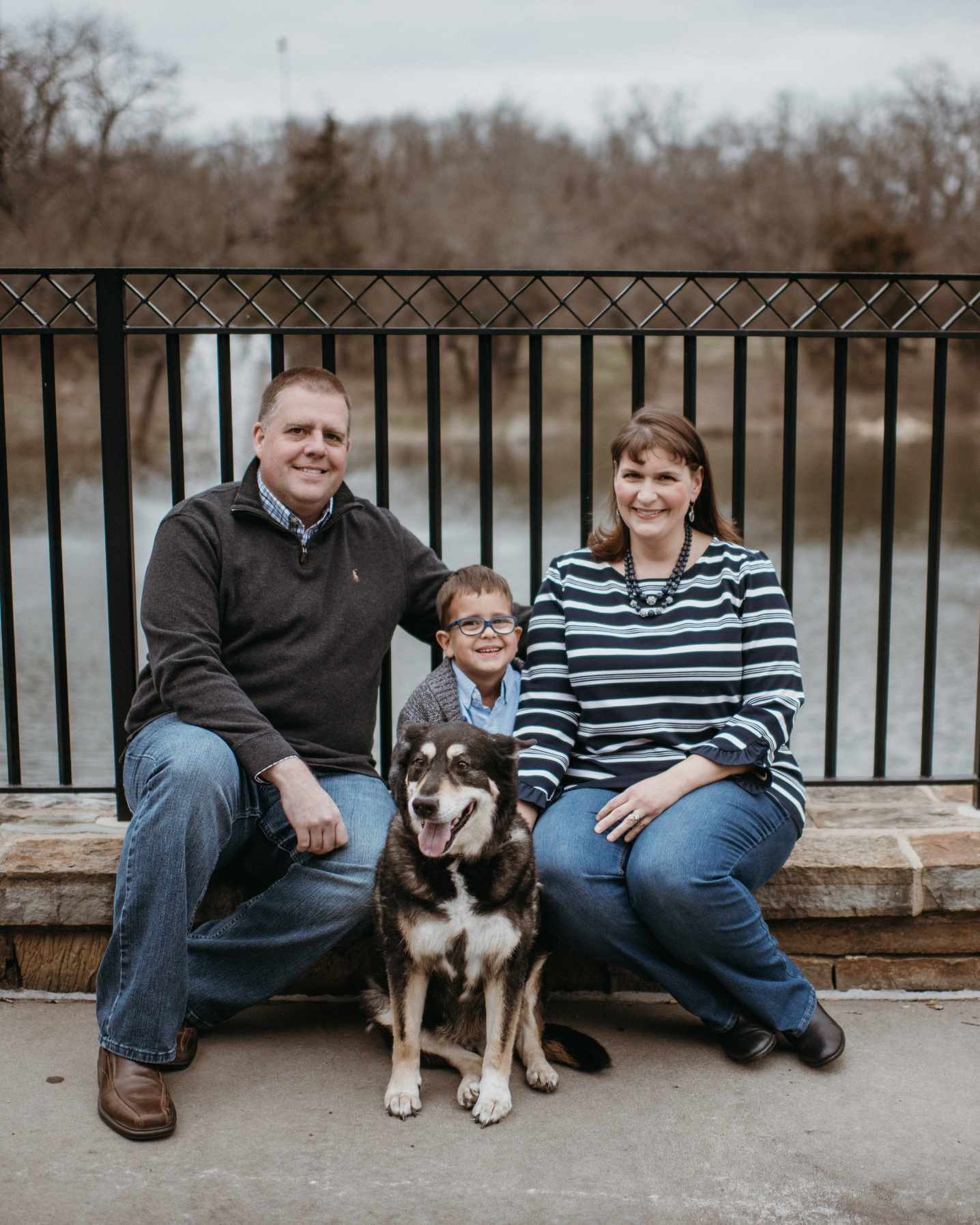 Lisa Larson-Bunnell and her husband, Nick, and son, Lucas.