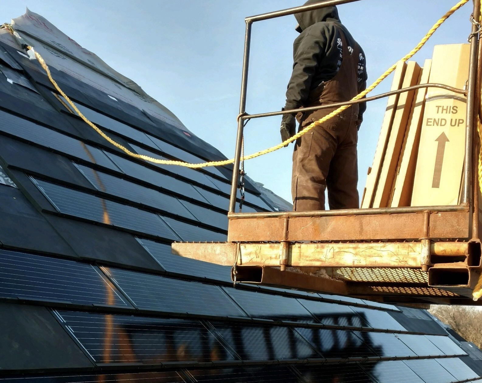 Litty Solar installing the first ever RGS Energy Powerhouse 3.0 solar shingle system in the Country.