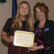 Emma Burns (left), 2019 DWPA Scholarship Winner, and Judy Stahl