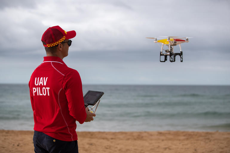 NSW lifeguards utilise drone technology to save lives.