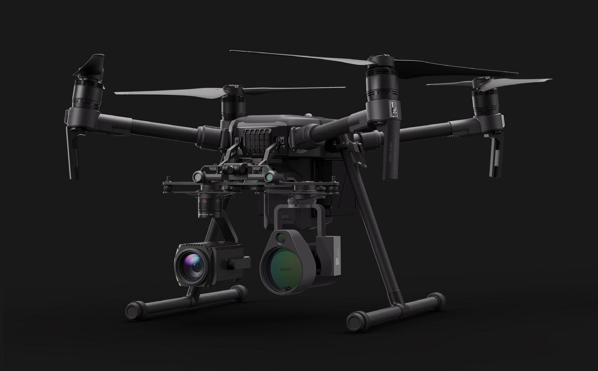 The U10 UAV Based Laser Methane Leakage Detector mounted to the Matrice
